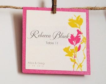 Figgy Wedding Place Cards, Escort Cards, Favor Tags, Tented Place Cards, Flat Place Cards for weddings / NAME PRINTING included