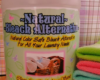 NATURAL NEW Color Safe Bleach Alternative--Works on ALL Whites and Colored Laundry--Wonderful--64 oz. Jug