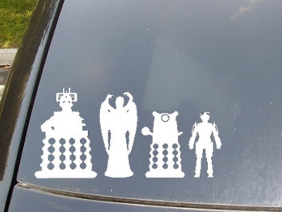 Enemies of The Doctor Car Sticker set of 4