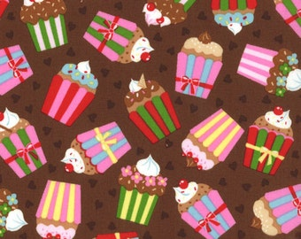 Cherry On Top - Cupcakes in Chocolate by Keiki for Moda Fabrics
