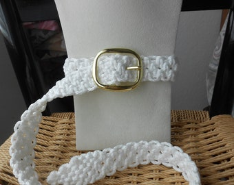 Macrame Belt in White