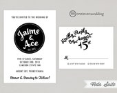 Veda Modern Bold Printable Digital Wedding Invitation