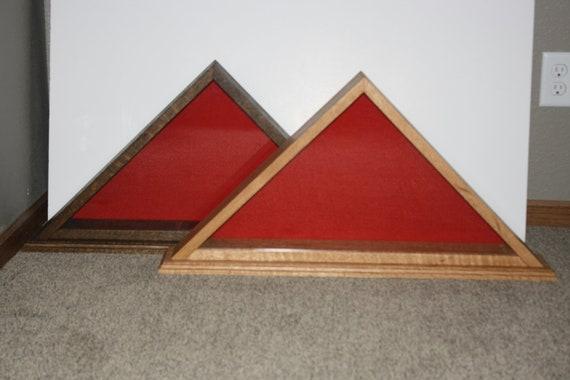 flag display case solid oak for regulation armed forces memorial flag