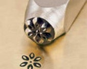 Metal Design Stamp ... Lily Flower ... 6 Petal Floral... for Stamping, Jewelry, Scrapbooking, Wood, Clay, Leather, more....