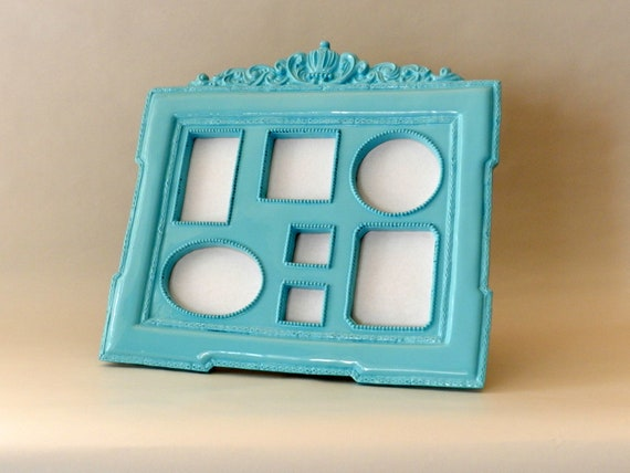 Collage Picture Frame in Robin Egg Blue