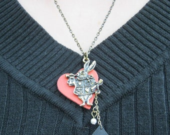 Lolita Alice themed Charm Necklace