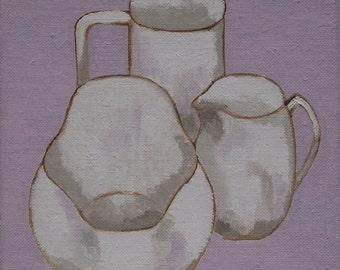 Still life original oil painting on linen