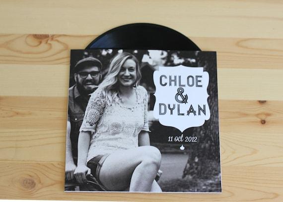 Items similar to custom vinyl music record wedding for Etsy vinyl wedding invitations