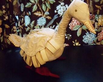 FOLK ART Bird, Fabric and Wire, Vintage, Handmade