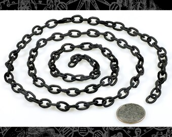 Black Silk Wrapped Chain, 36 inches CH2