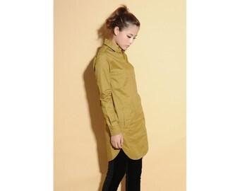 Fall Blouse/ Shirt Dress/Any Size/ 26 Colors/ RAMIES