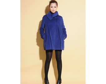 Babydoll Pure Wool pleated Jacket  / 15 Colors/ RAMIES