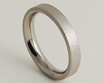 Womens Titanium Ring , Wedding Band , The Aphrodite Band with Comfort fit interior