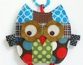 Baby Toy, Mr Spots the Patchwork Owl, Crinkle Toy, Crinkle Owl, Great Baby Boy Gift