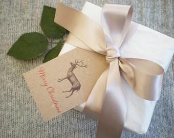 Reindeer Christmas Tags Set Of Three