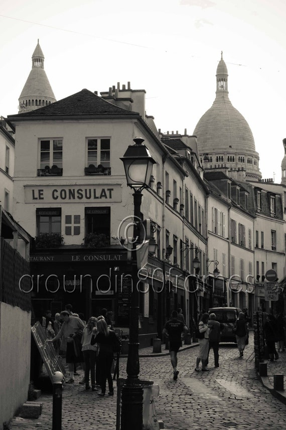 Paris Photography- Streets of Montmartre- Travel Photography- Home and Office Decor