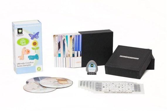 Cricut ULTIMATE CREATIVE SERIES Sampler Die Cut Cartridge plus Project Dvds