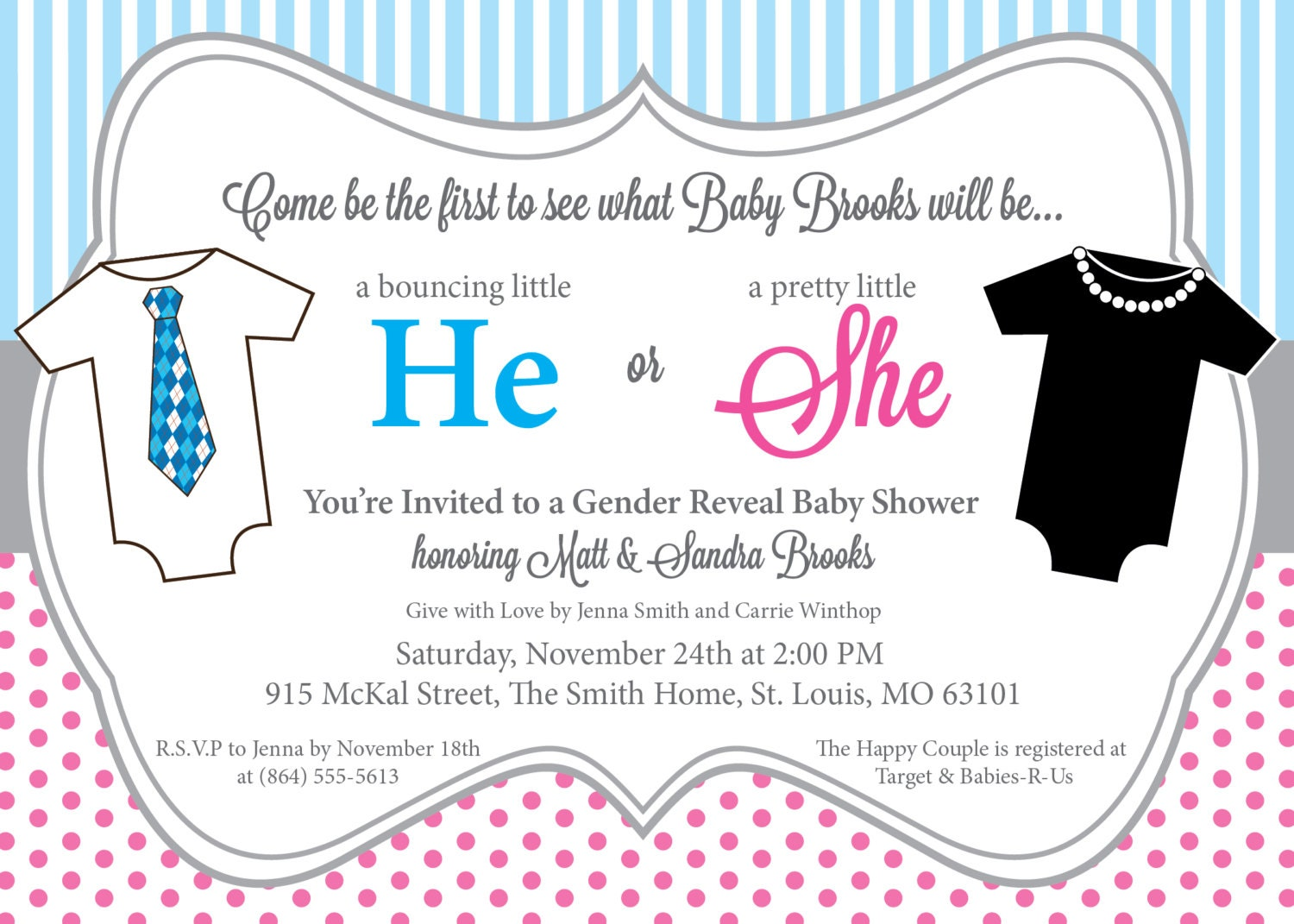 Modern Baby Shower Invitations with perfect invitation example