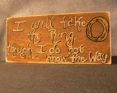 I will take the Ring wall sign