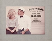 "Save the Date Card / Magnetic Save the Date / Save the Date Magnet / Vintage Save the Date Card / Save the Date Magnets - the ""Cadence"""