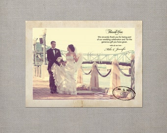 "Wedding Thank You Magnets / Thank You Notes / Vintage magnets / Thank you magnet / Wedding Thank You - the ""Jennifer"""