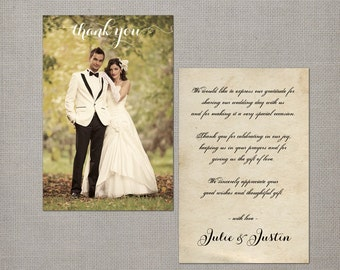 "Vintage Wedding Thank You Cards - the ""Julie"""