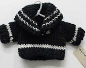 SALE Handknit Ski Sweater Ornament