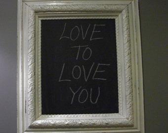 Big Handpainted Vintage Reclaimed Wood Framed Chalkboard