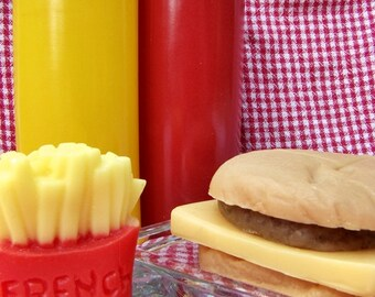 Hamburger and French Fries Soap Set--Great for Summer--