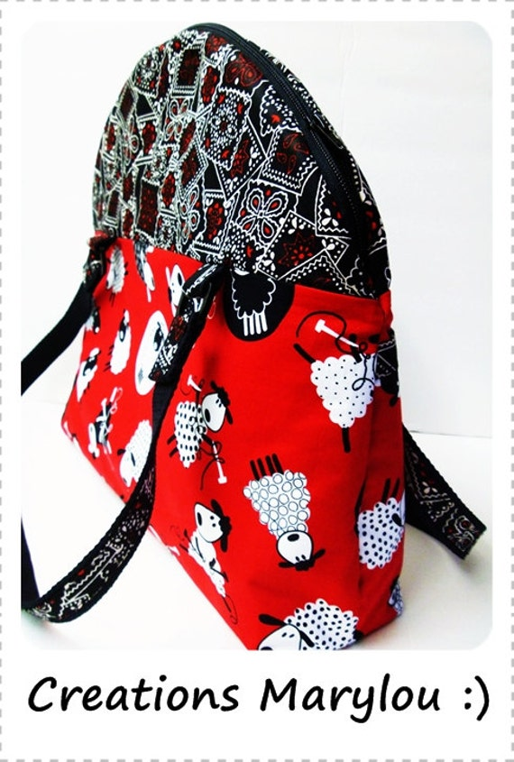 Large knitting bag.