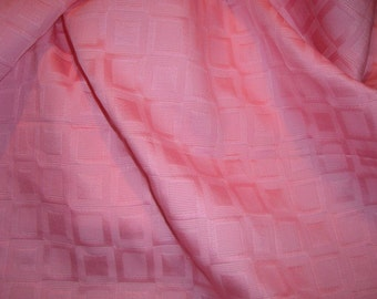 SPECIAL--Bubble Gum Pink Geometric Design Pure Cotton Jacquard Fabric--One Yard