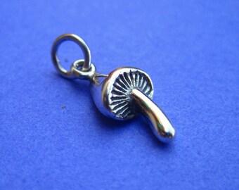 Sterling Silver Mushroom Charm
