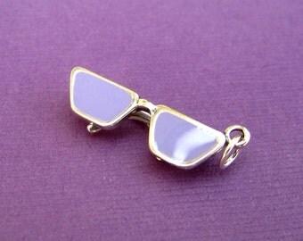 Sterling Silver Designer Eyeglasses  Pendant Charm CLEARANCE