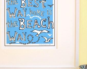 Beach Way - Large Archival Print
