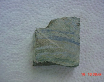 Rough Un-Polished Navy Blue and  Green Marbelized Serpentine Jasper Cabochon Cabbing Slab
