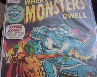 1973 Where Monsters Dwell Marvel Comics Group Issue 20 March