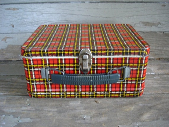 Vintage Metal Lunch Box Red Ohio Art