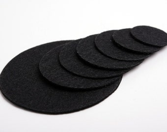 20PCS 40mm(1 9/16inch)  Nonwoven Fabric Kraft Circle for  Flower or Corsage Professional Finished.