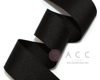 5Yards Black Solid Grosgrain Ribbon - 5mm(2/8''), 10mm(3/8''), 15mm(5/8''), 25mm(1''), and 40mm(1 1/2'')