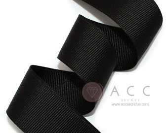 Black Grosgrain Ribbon - 5mm(2/8''), 10mm(3/8''), 15mm(5/8''), 25mm(1''), and 40mm(1 1/2'')