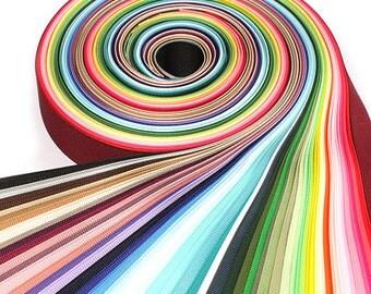 60Yards 25mm(1'') 60 Colors Solid Grosgrain Ribbon Set