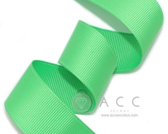 Pale Green Grosgrain Ribbon - 5mm(2/8''), 10mm(3/8''), 15mm(5/8''), 25mm(1''), and 40mm(1 1/2'')