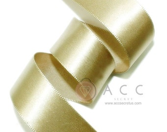 Khaki Single Faced Satin Ribbon - 5mm(2/8''), 10mm(3/8''), 15mm(5/8''), 25mm(1''), 40mm(1 1/2''), and 50mm(2'')