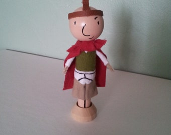 Quail Man Clothespin Doll - MADE TO ORDER
