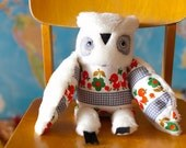 Jean Paul   owl , soft art  toy by  Wassupbrothers