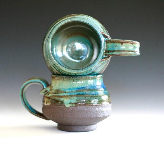 Pair of Coffee Mugs, handmade ceramic cups, ceramic stoneware mugs