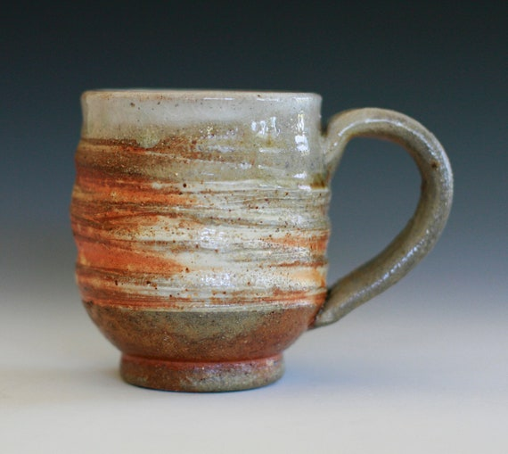 Wood-Fired Coffee Mug, handmade ceramic cup, coffee cup