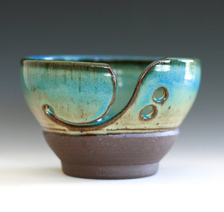 Yarn Bowl Handmade Stoneware Potteryhandmade Ceramic By