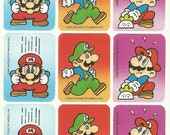 Vintage 80s Super Mario Brothers Sticker Sheet (Version 3)