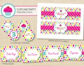 Sweet shop cupcake Printable Party Pack - DIY